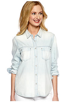 DKNY Jeans Chambray Button Down Shirt
