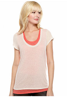 DKNY Jeans Sheer Double Layer Tee