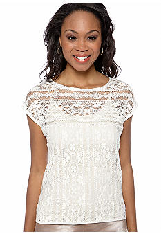 DKNY Jeans Lace Boxy Top