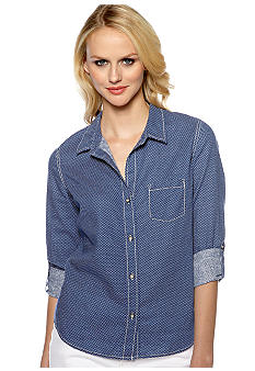 DKNY Jeans Ditsy Star Chambray Shirt