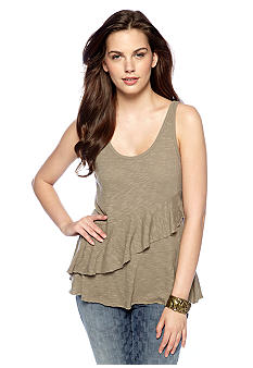 DKNY Jeans Tiered Ruffle Tank Top