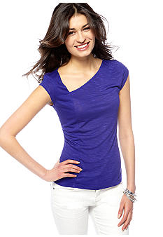 DKNY Jeans Asymmetrical Short Sleeve Top