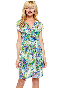 Harper and Gray Ruffle Front Faux Wrap Dress