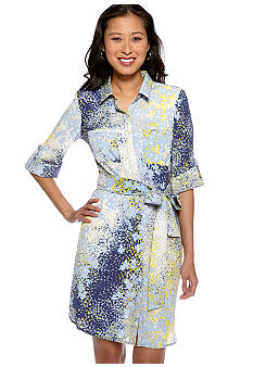Harper and Gray Floral Print Shirtdress