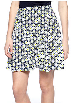 Harper and Gray Printed Pleated Skirt