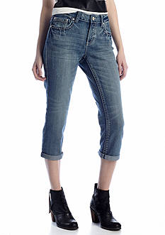 New Directions® Weekend Faux Leather Pocket Jean Capri