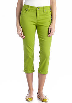 New Directions® Weekend Twill Rolled-Cuff Capri