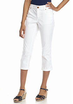 New Directions Weekend Embellished Twill Capri