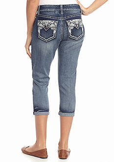 New Directions Weekend Flap Crochet Bling Jean Capris