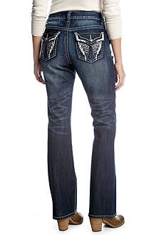 New Directions® Weekend Wing Pocket Bootcut Jean