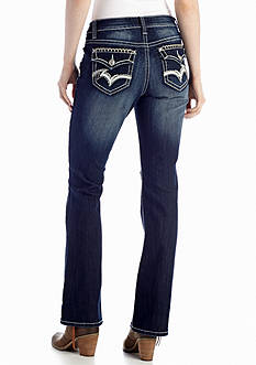 New Directions® Weekend Thick Stitch Pocket Bootcut Jean