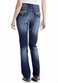 New Directions® Weekend Bling Pocket Straight Leg Jean