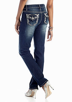New Directions® Weekend Jeweled Flap Pocket Straight Jean