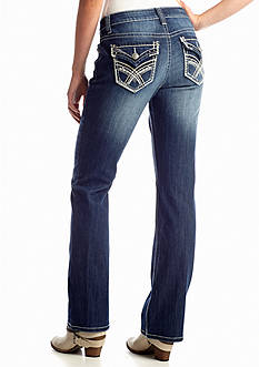 New Directions® Stitch Back Pocket Boot Cut Jean