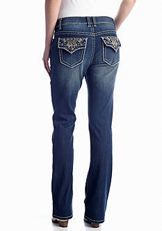 New Directions® Weekend Chevron Flap Pocket Boot Cut Jean