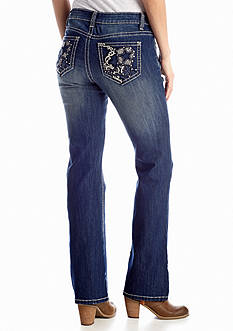 New Directions® Weekend Texas Boot Pocket Jean