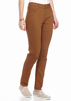 New Directions Weekend Solid Twill Pants