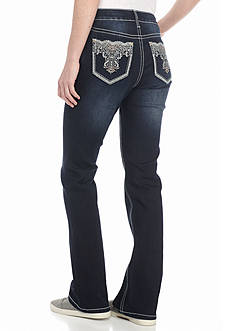 New Directions Weekend Lace Pocket Bootcut Jeans
