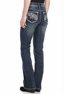 New Directions Weekend Studded Wing Pocket Bootcut Jeans