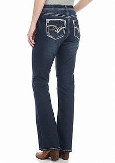 New Directions Weekend Embellished Shaper Jeans