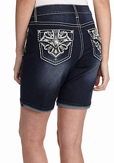 New Directions Weekend Bling Cross Jean Shorts