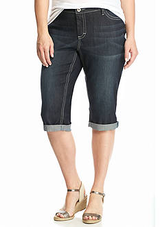 New Directions Weekend Plus Size Stretch Denim Skimmer