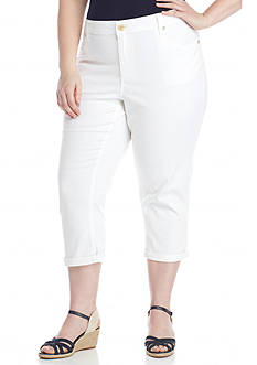New Directions Weekend Plus Size Twill Capri Pants