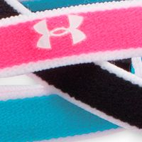 Workout Clothes for Women: Black Multi Under Armour Women's Mini Headbands