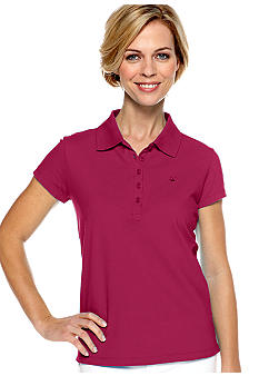 Gloria Vanderbilt Short Sleeve Pique Polo
