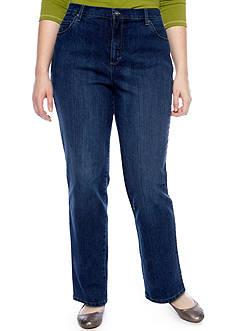 Gloria Vanderbilt Plus Size Amanda 5 Pocket Jeans (Short & Average Inseams)