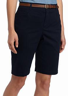 Gloria Vanderbilt Charlene Belted City Shorts