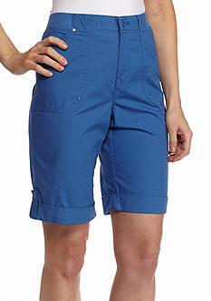 Gloria Vanderbilt Knit Cargo Bermuda Shorts