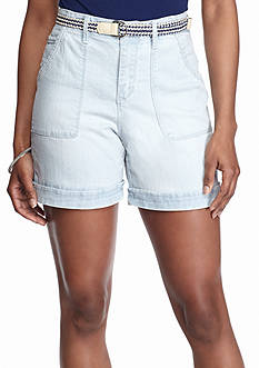 Gloria Vanderbilt Milah Belted Utility Shorts