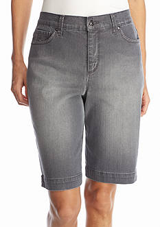 Gloria Vanderbilt Petite Amanda Embellished Bermuda Shorts