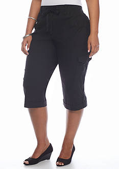 Gloria Vanderbilt Plus Size Dahlia Pull-On Capris