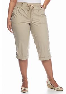 Gloria Vanderbilt Plus Size Dahlia Pull-On Capris