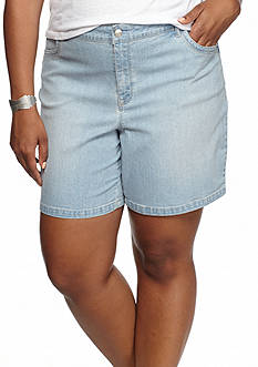 Gloria Vanderbilt Plus Size Jacqueline Embellished Denim Shorts