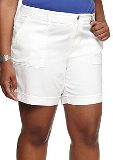 Gloria Vanderbilt Plus Size Frida Cargo Shorts