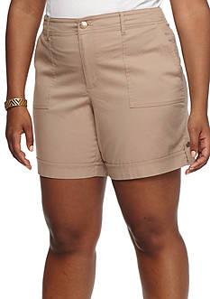 Gloria Vanderbilt Plus Size Frida Cargo Shorts