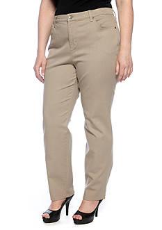 Gloria Vanderbilt Plus Size Amanda 5-Pocket Colored Jean