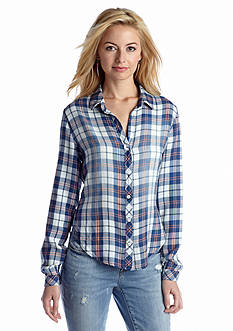 Cloth & Stone Long Sleeve Plaid Button-Down Shirt