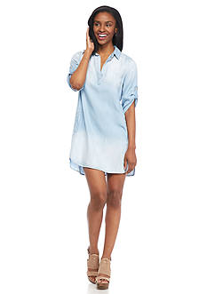 Cloth & Stone Denim A-Line Shirt Dress
