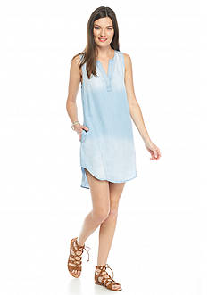 Cloth & Stone Seam Detail Chambray Dress