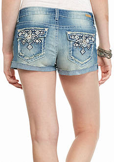 Red Camel Jean Roll Cuff Shorts