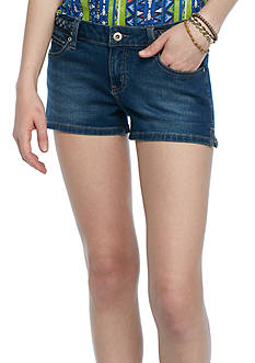 Red Camel Braid Waist Clean Shorts