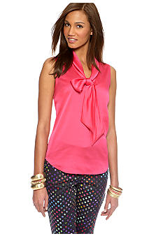 CYNTHIA Cynthia Rowley Sleeveless Bow Blouse