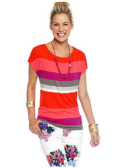 CYNTHIA Cynthia Rowley Stripe Wedge Tee