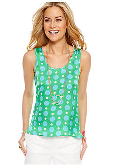 CYNTHIA Cynthia Rowley Woven to Knit Printed Tank Top