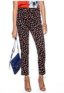 CYNTHIA Cynthia Rowley Printed Polished Ankle Pants