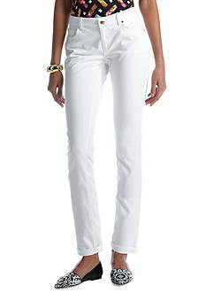 CYNTHIA Cynthia Rowley Everyday Essentials White Twill Roll Cuff Jean